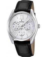 Festina F16752-1 reloj multifunción correa de cuero negro
