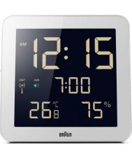 Braun BNC014WH-RC Global reloj de pared controlado por radio - blanco