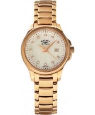 Rotary LB90120-41 Damas les originales primavera reloj de oro rosa