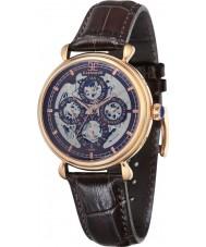 Thomas Earnshaw ES-8043-05 Reloj para hombre de la correa de cuero marrón gran calendario