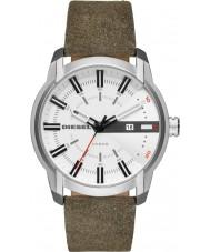Diesel DZ1781 reloj de la correa de cuero verde para hombre llave de brazo