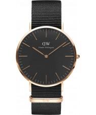Daniel Wellington DW00100148 reloj de 40 mm Cornwall negro clásico