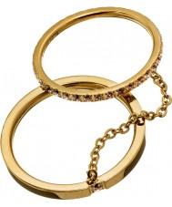 Edblad 41530045-M Las señoras brillantes anillos de oro - tamaño p (m)