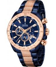 Festina F16886-1 Para hombre de prestigio reloj cronógrafo de acero de dos tonos