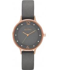Skagen SKW2267 Las señoras Anita reloj de la correa de cuero gris