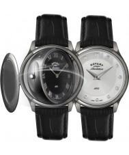 Rotary LS02970-10-07 Revelación de las señoras del reloj