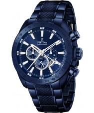 Festina F16887-1 prestigio para hombre azul de acero reloj cronógrafo