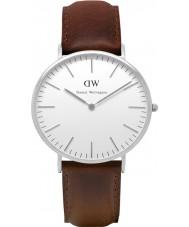 Daniel Wellington DW00100023 Para hombre clásico reloj de plata de 40 mm Bristol