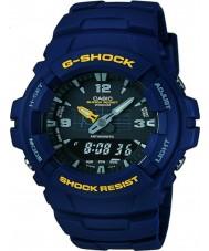 Casio G-100-2BVMUR reloj azul de la correa de resina para hombre g-shock
