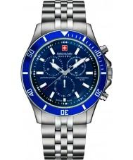 Swiss Military 6-5183-7-04-003 Para hombre insignia chrono reloj de plata