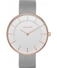 Skagen SKW2583 reloj de la pulsera de malla de acero de plata damas gitte