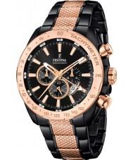 Festina F16888-1 Para hombre de prestigio reloj cronógrafo de acero de dos tonos