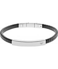 Emporio Armani EGS2063040 Para hombre de la firma pulsera de acero al carbono negro