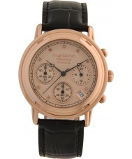 Krug-Baumen 150577DM para hombre de diamante principio aumentaron correa de reloj de oro