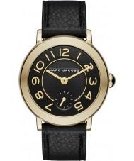 Marc Jacobs MJ1471 Damas riley reloj de la correa de cuero negro