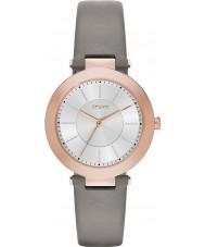 DKNY NY2296 Damas Stanhope 2.0 reloj de la correa de cuero gris mate