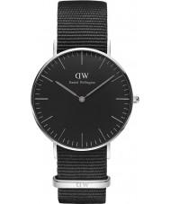 Daniel Wellington DW00100151 reloj de 36 mm de Cornualles negro clásico