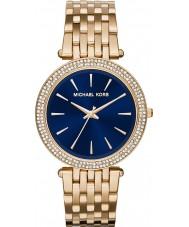 Michael Kors MK3406 Damas darci marino oro azul reloj plateado