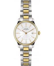 Rotary LB02772-06 Relojes de locarno reloj de acero de dos tonos