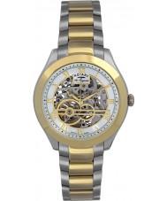 Rotary GB90515-10 Para hombre originales les jura reloj automático de plata del oro