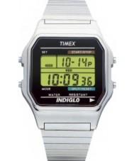 Timex T78587 Para hombre reloj cronógrafo digital de plata clásica