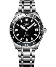 Rotary LB90168-04 reloj de pulsera de acero plata Relojes de legado