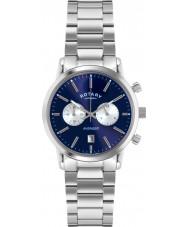 Rotary GB02730-05 Relojes para hombre de los deportes vengador reloj cronógrafo de plata azul