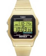 Timex T78677 Para hombre reloj cronógrafo de oro clásico digitales