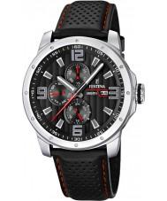 Festina F16585-8 reloj de la correa de cuero multifunción para hombre
