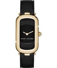 Marc Jacobs MJ1484 Damas Jacob de cuero negro reloj de la correa
