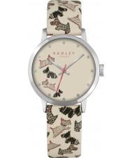 Radley RY2367 Señoras de la calle de flota reloj de la correa de cuero color crema