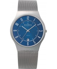 Skagen 233XLTTN reloj de plata de malla de titanio para hombre klassik