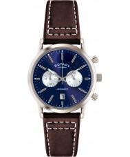 Rotary GS02730-05 Relojes para hombre de los deportes vengador azul reloj cronógrafo marrón