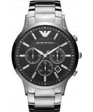 Emporio Armani AR2460 Para hombre reloj de plata negro clásico cronógrafo