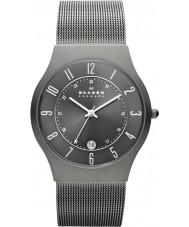 Skagen 233XLTTM Mens klassik reloj de malla gris titanio