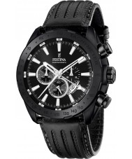 Festina F16901-1 el prestigio de cuero para hombre reloj cronógrafo negro