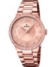 Festina F16721-2 Señoras de oro rosa reloj plateado