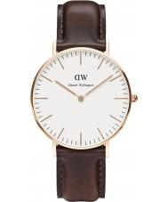 Daniel Wellington DW00100039 Damas clásico 36mm Bristol reloj de oro rosa