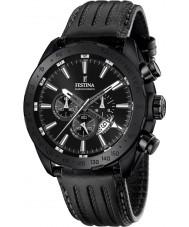 Festina F16902-1 el prestigio de cuero para hombre reloj cronógrafo negro