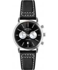 Rotary GS02730-04 reloj cronógrafo negro para hombre Relojes deportivos vengador