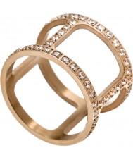 Edblad 3153441915-XS Señoras helena cz oro rosa anillo plateado - talla L (x)