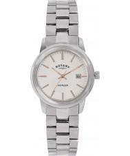 Rotary LB02735-06 Relojes de reloj de acero de plata vengador