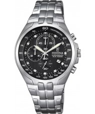 Festina F6843-4 reloj cronógrafo de acero de plata para hombre del cronógrafo