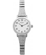 Rotary LBI0761 Relojes de pulsera de reloj de acero expandible