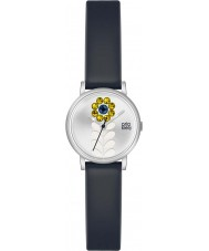 Orla Kiely OK2047 reloj de la correa de cuero negro de las señoras Valentina