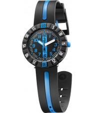 Flik Flak FCSP031 Niños azules por delante reloj correa de silicona de dos tonos