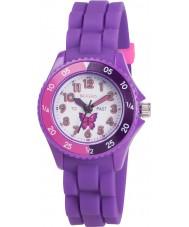 Tikkers TK0041 Niñas reloj maestro mariposa tiempo púrpura