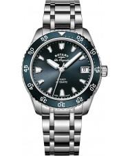 Rotary LB90168-05 reloj de pulsera de acero plata Relojes de legado