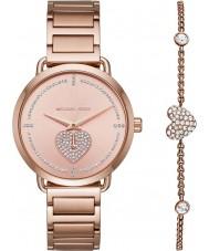 Michael Kors MK3827 Conjunto de regalo de reloj de señora portia