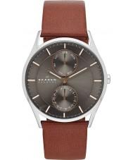 Skagen SKW6086 Reloj para hombre de la correa de cuero marrón Holst